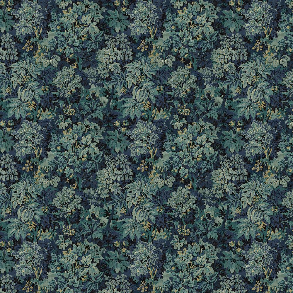 Wildwood Wallpaper - Blue - by Sidney Paul & Co