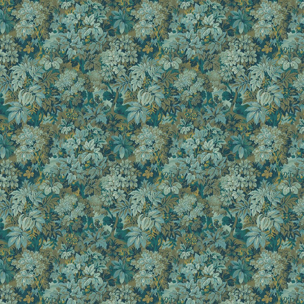 Wildwood Wallpaper - Teal - by Sidney Paul & Co