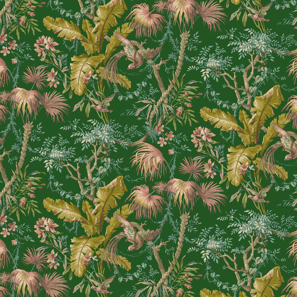 The Lost Gardens Wallpaper - Emerald - by Sidney Paul & Co