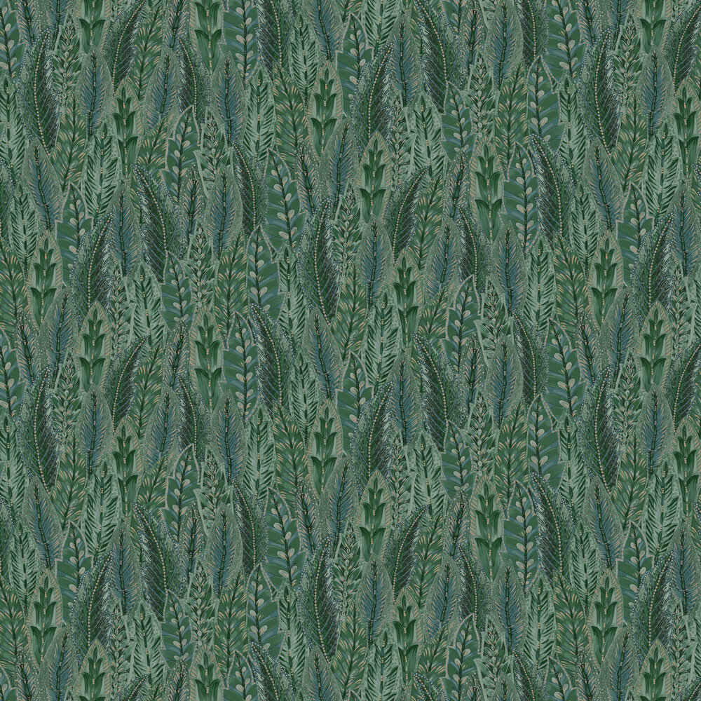 Amherst Wallpaper - Green - by Albany