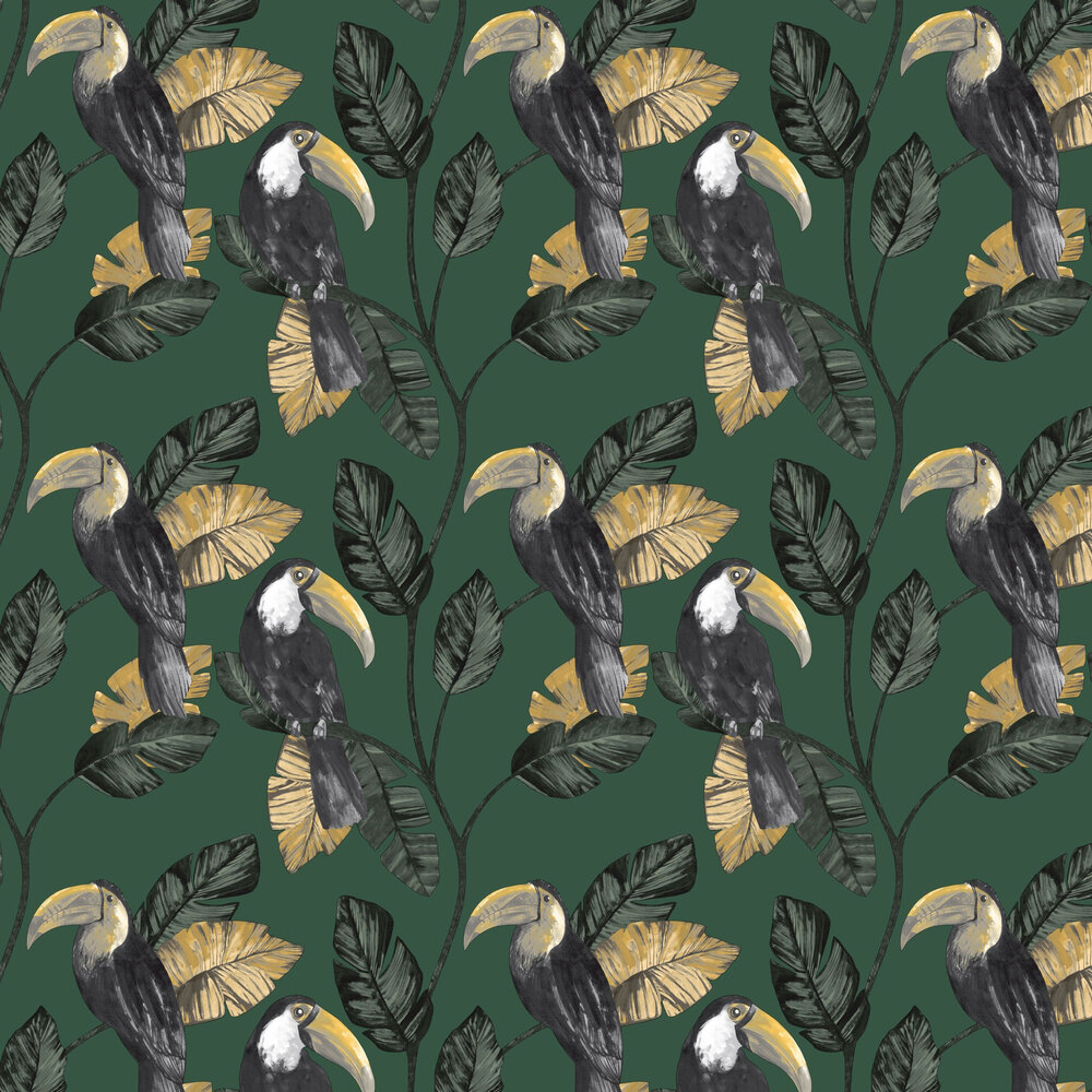 Tiki Wallpaper - Green - by Albany