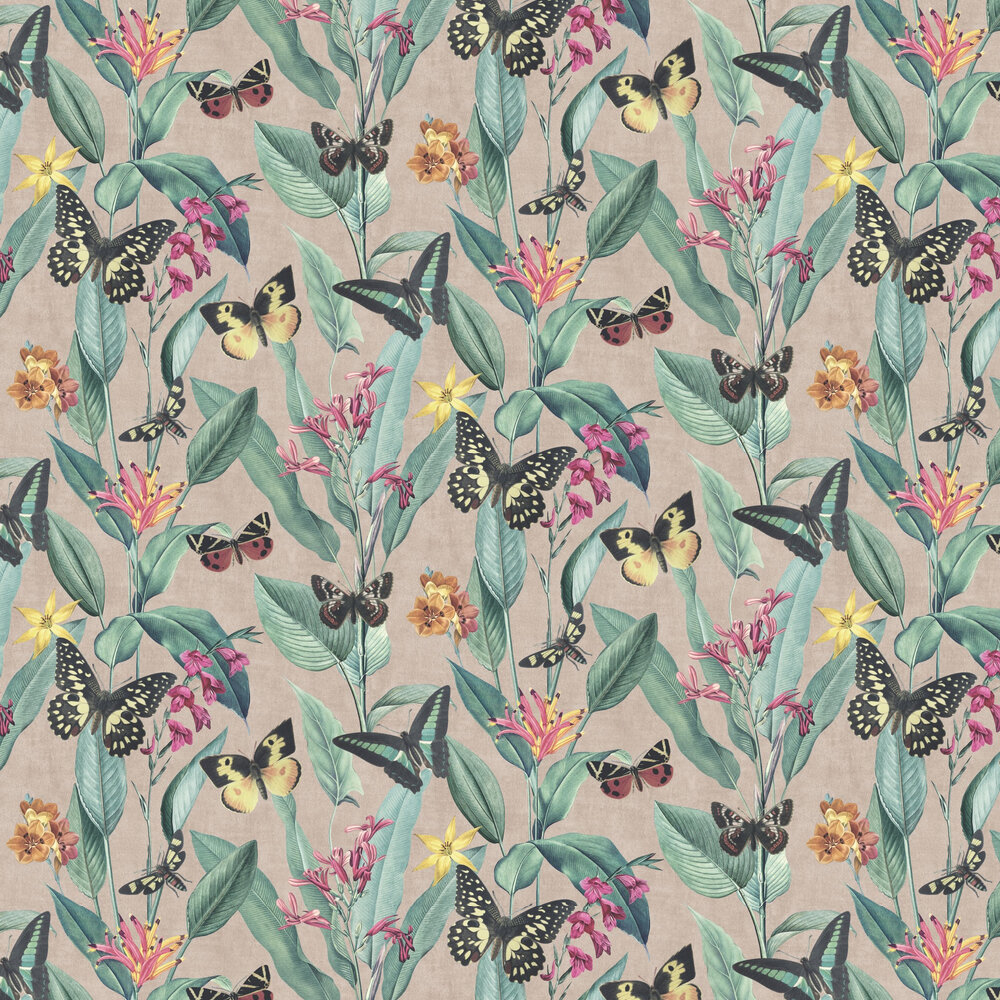 Papillon Wallpaper - Rose Gold - by Albany
