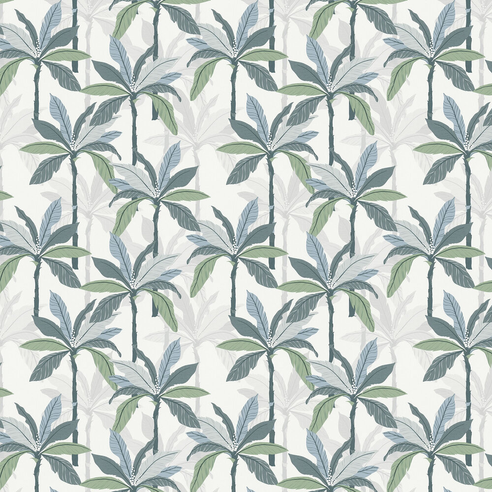 Palm Wallpaper - Sage - by Albany