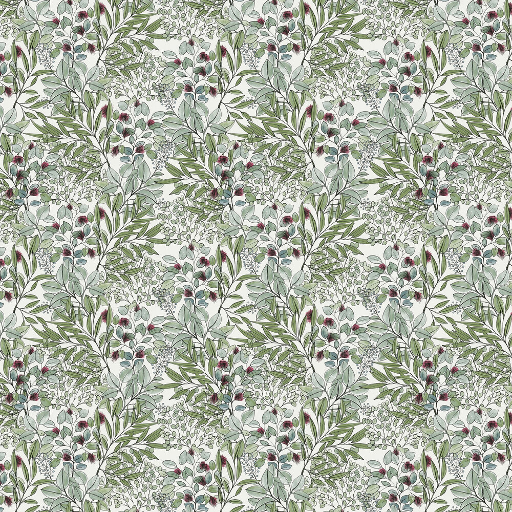 Foliage Wallpaper - Green - by Albany
