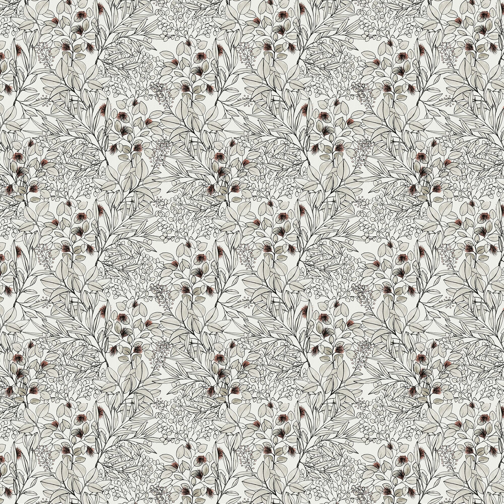 Foliage Wallpaper - Greyscale - by Albany
