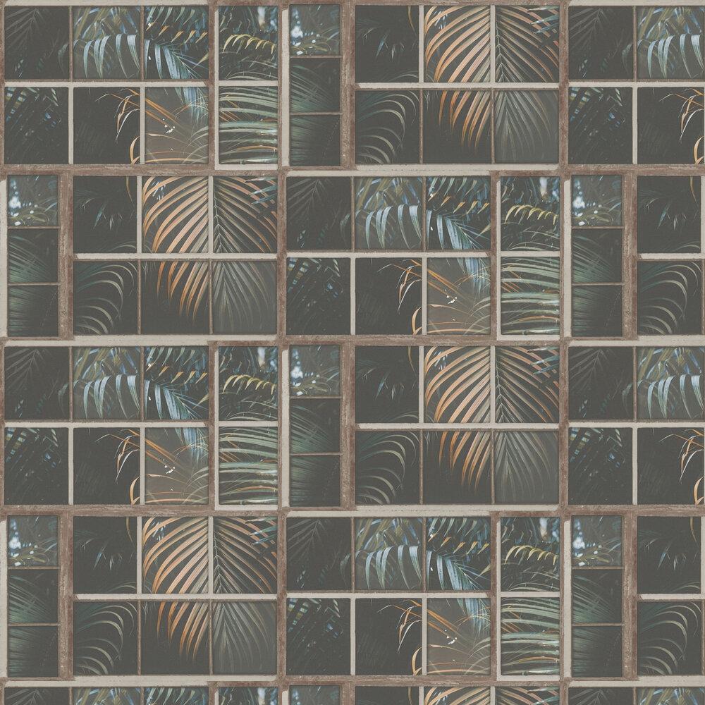 Window Pane Wallpaper - Rust - by Albany