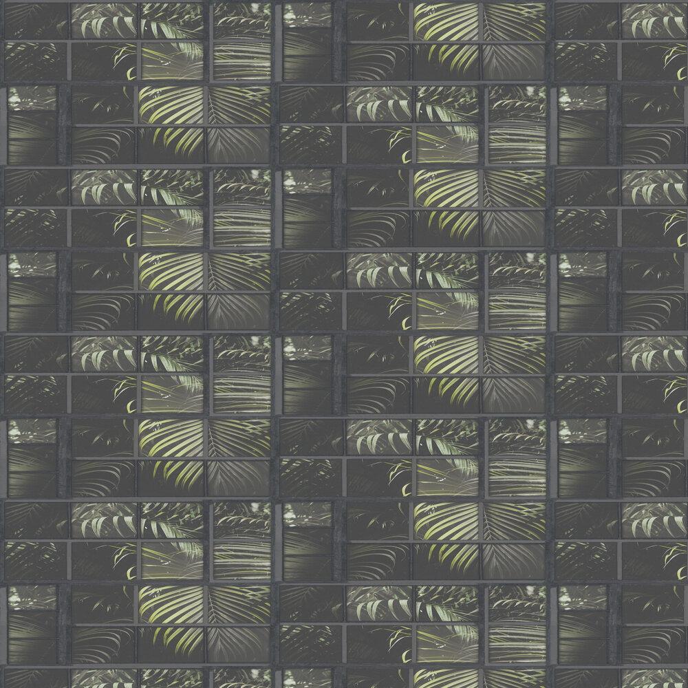 Window Pane Wallpaper - Black - by Albany