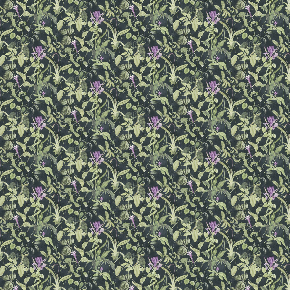 Garden Wallpaper - Charcoal - by Albany