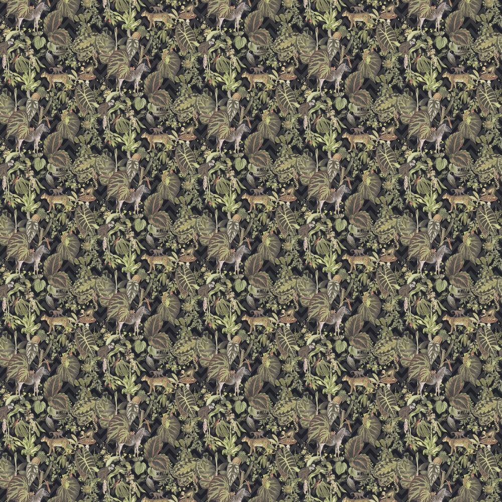 Jungle Wall Wallpaper - Green / Grey - by Albany