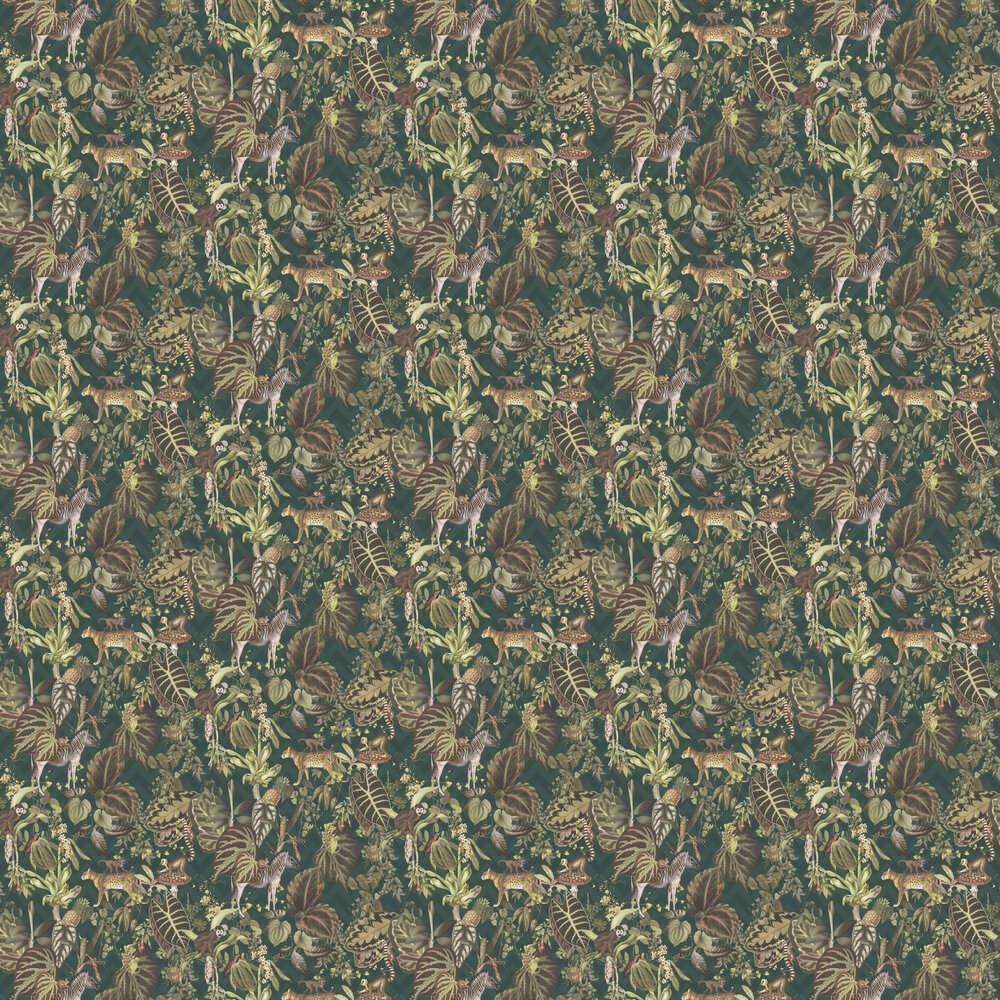 Jungle Wall Wallpaper - Green - by Albany