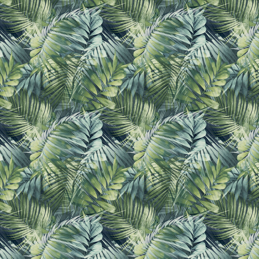 Antigua Wallpaper - Teal / Green - by Albany