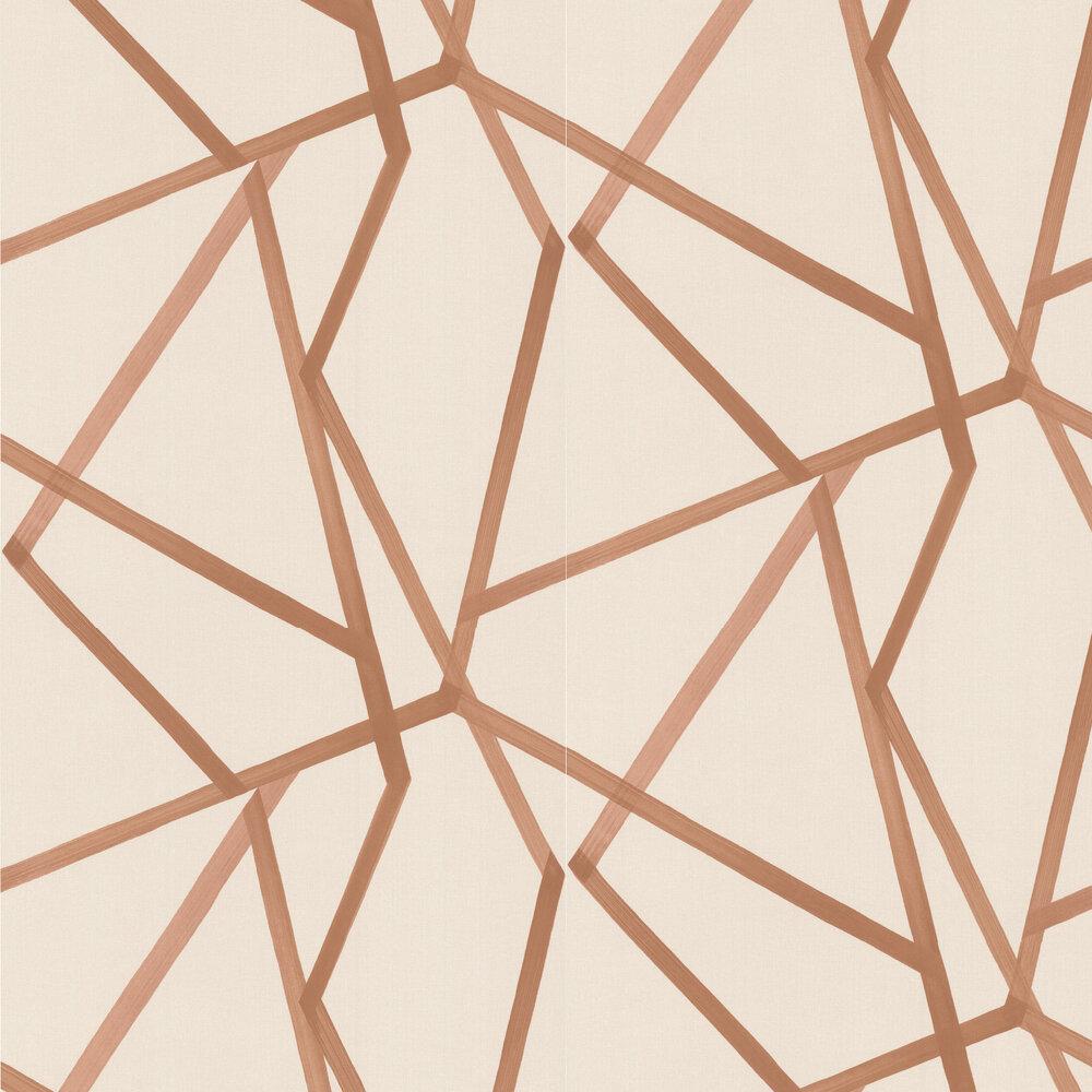 Sumi Wallpaper - Linen/Copper - by Harlequin