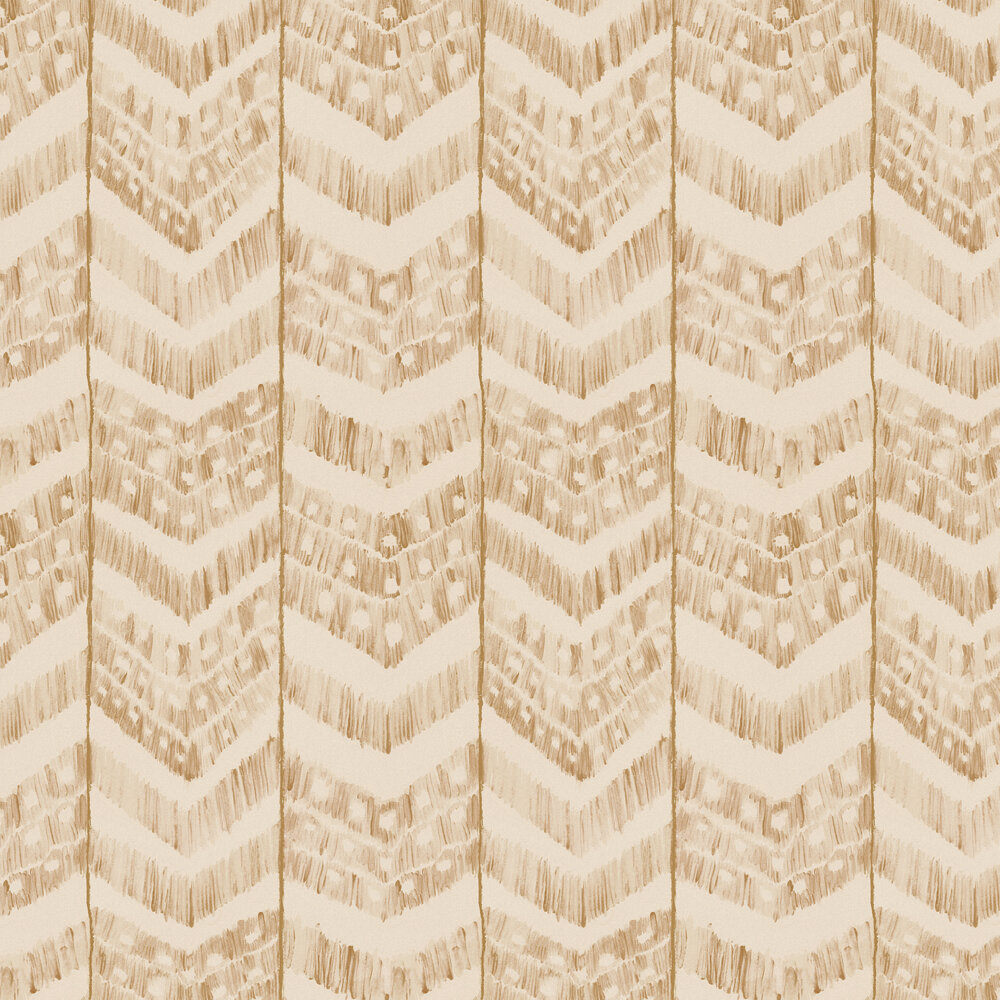 Turkish Ikat Wallpaper - Taupe - by Mind the Gap