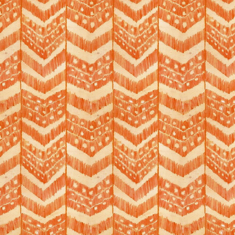 Turkish Ikat Wallpaper - Tangerine - by Mind the Gap