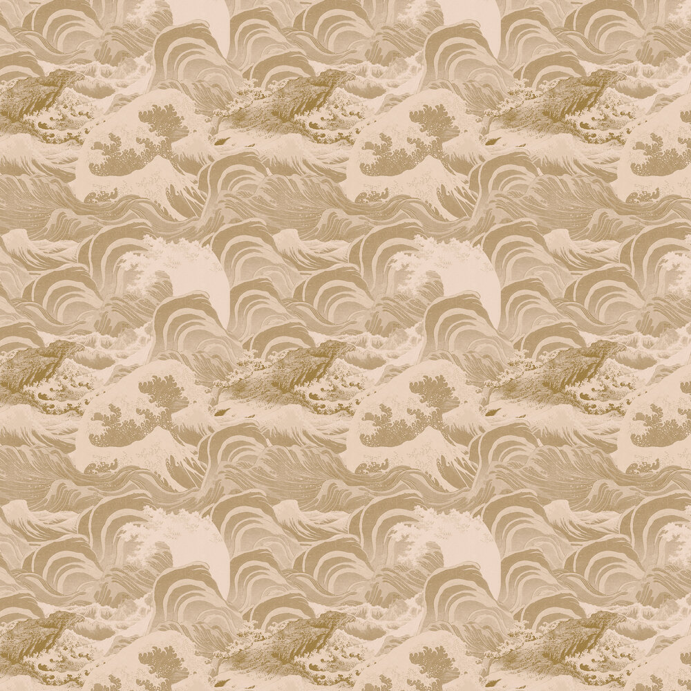 Sea Waves Wallpaper - Taupe - by Mind the Gap