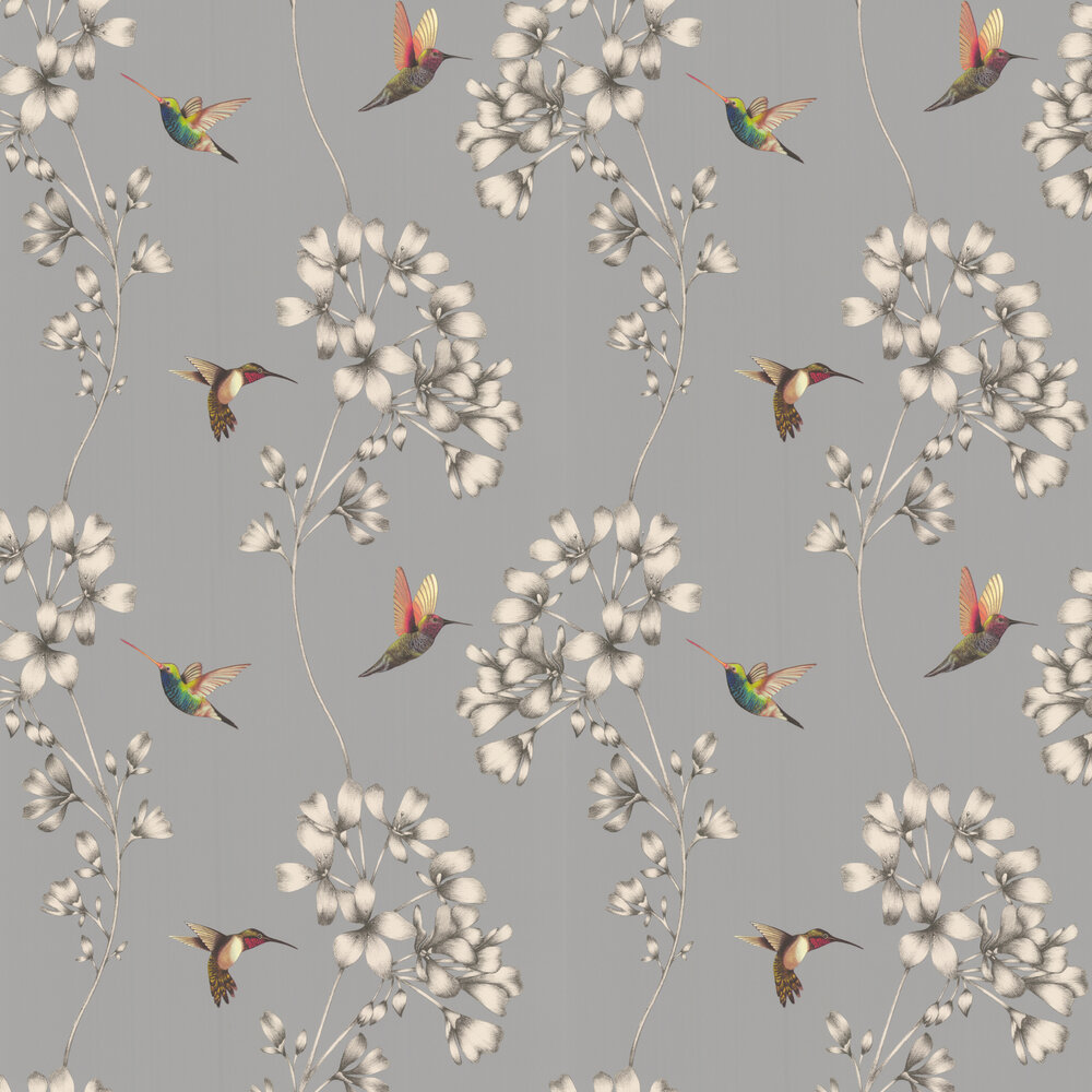Amazilia Wallpaper - French Grey/Stone - by Harlequin