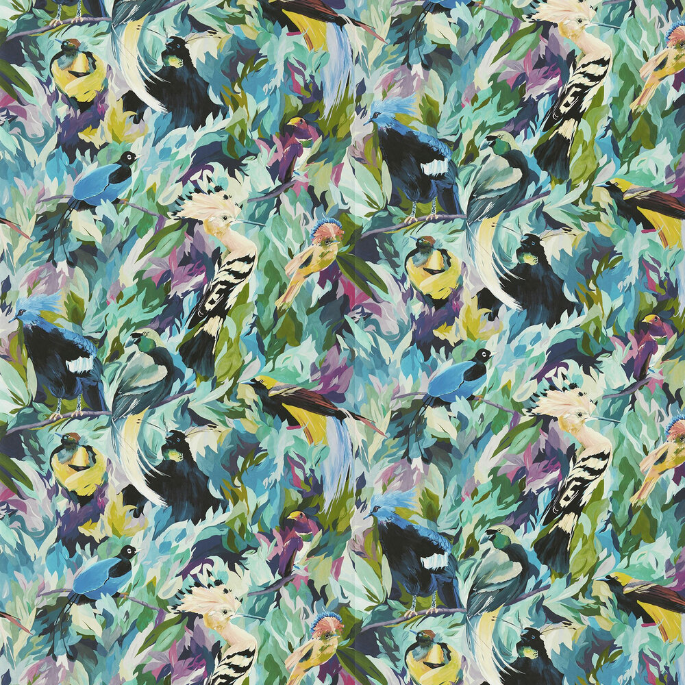 Dance of Adornment Wallpaper - Wilderness/Nectar/Pomegranate - by Harlequin