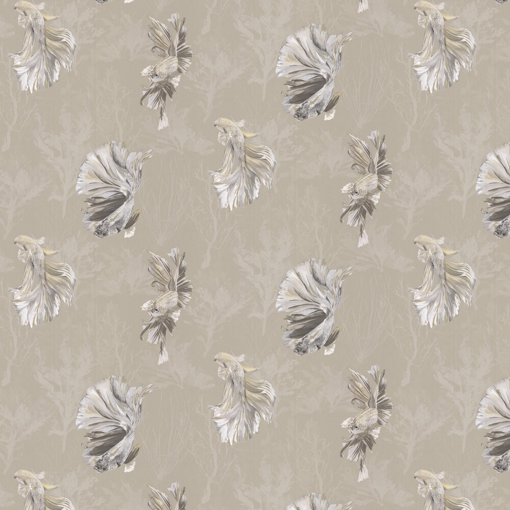 Halfmoon Wallpaper - Gilver/ Tranquility - by Harlequin