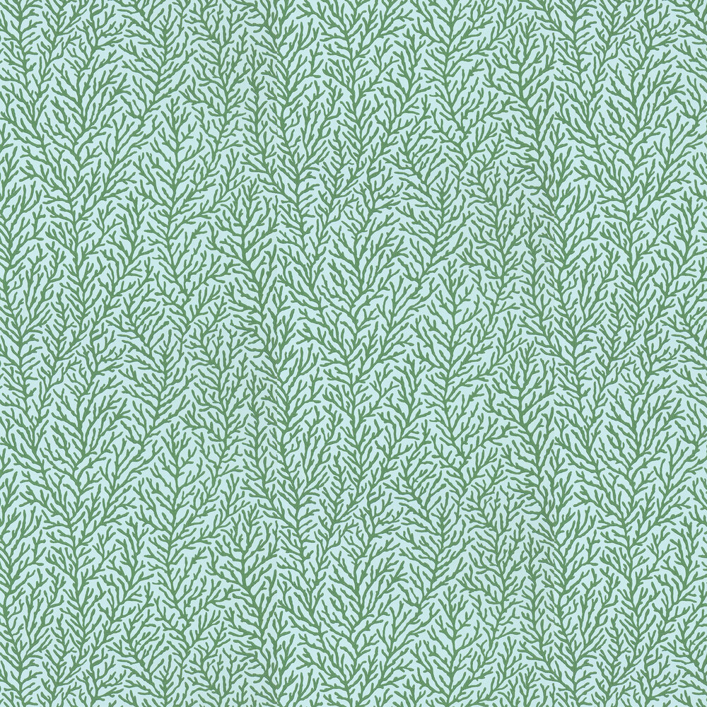 Atoll Wallpaper - Seaglass/Emerald - by Harlequin