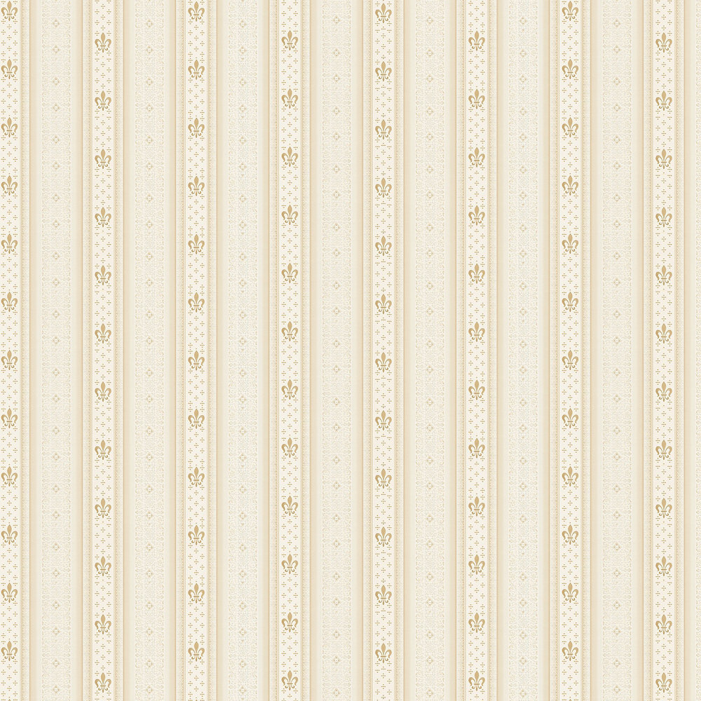 Ornate Stripes Wallpaper - Gold - by Albany