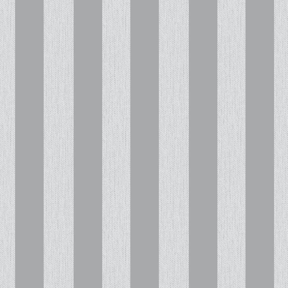 Amelie Stripe Wallpaper - Grey - by Albany