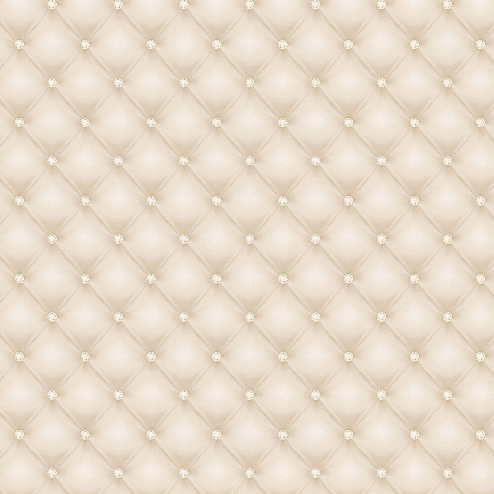 Bejewelled upholstery Wallpaper - Cream - by Albany