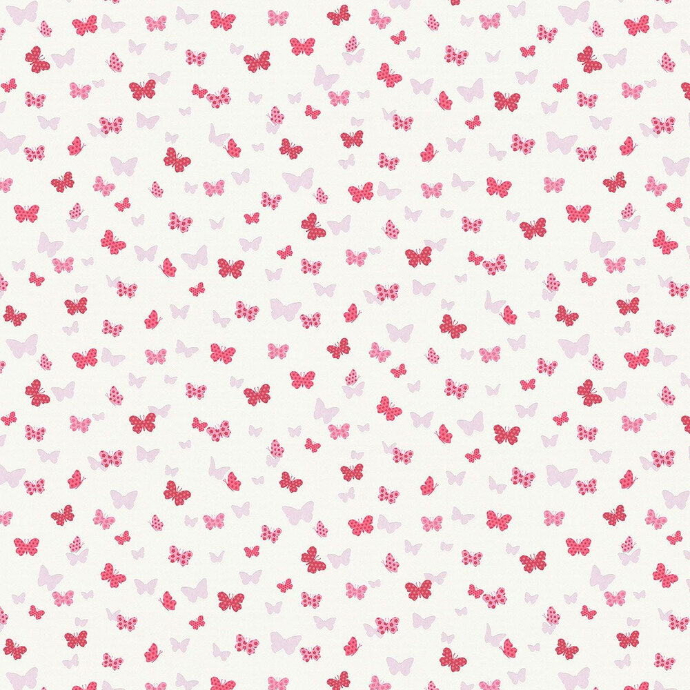 Dotted Butterflies Wallpaper - Pink - by Albany
