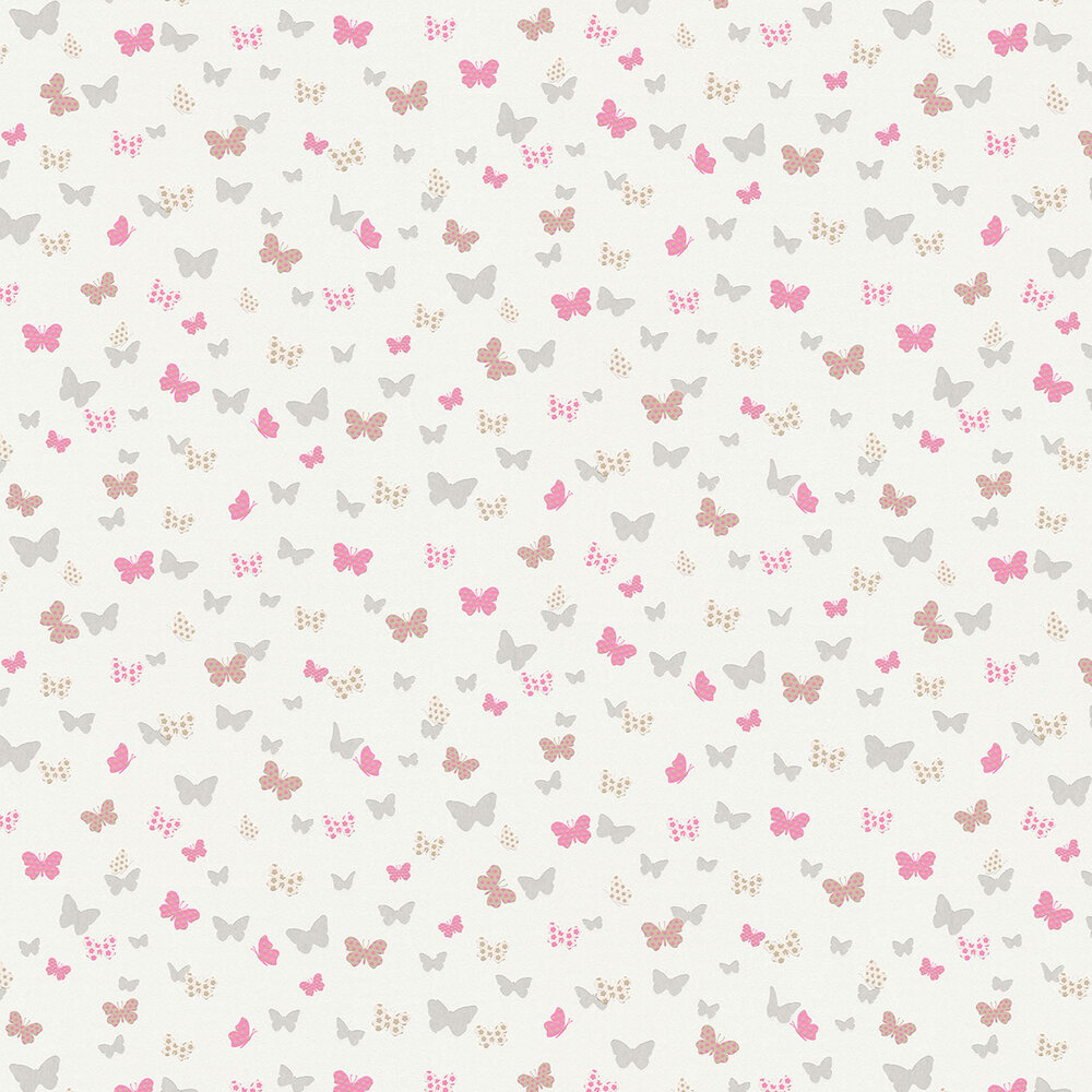Dotted Butterflies Wallpaper - Multi - by Albany