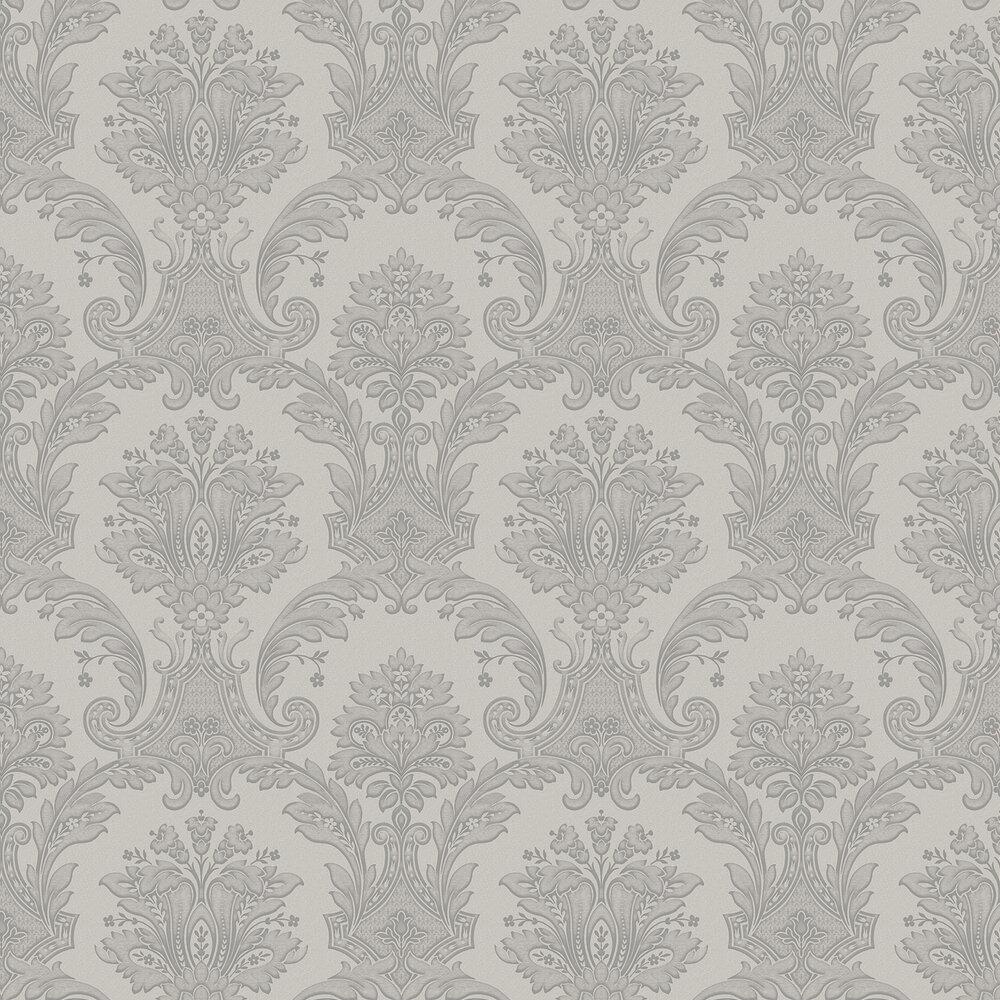 Amara Damask Wallpaper - Silver - by Albany