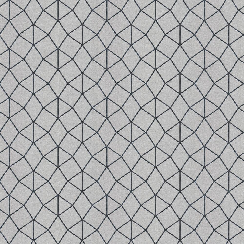 Geo Trellis Wallpaper - Silver - by Albany