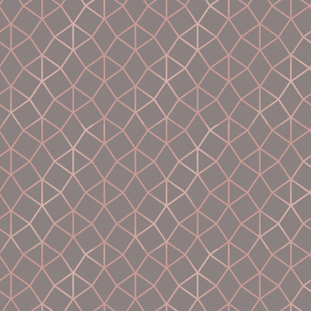Geo Trellis Wallpaper - Charcoal - by Albany