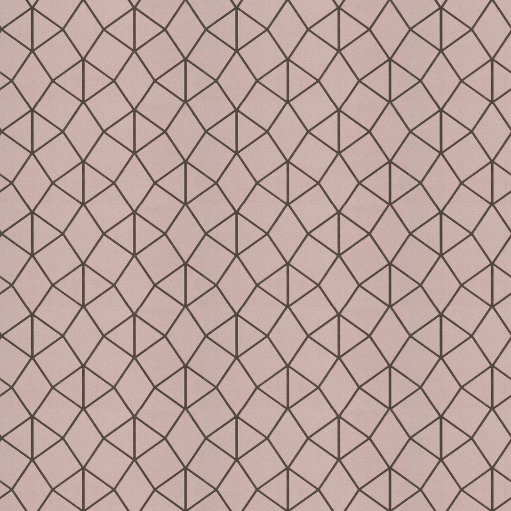 Geo Trellis Wallpaper - Rose Gold - by Albany