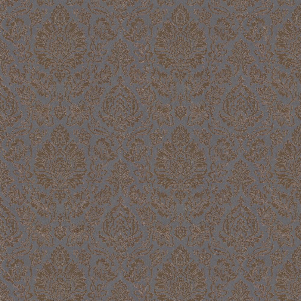 Metallic Damask Wallpaper - Rose Gold - by Albany