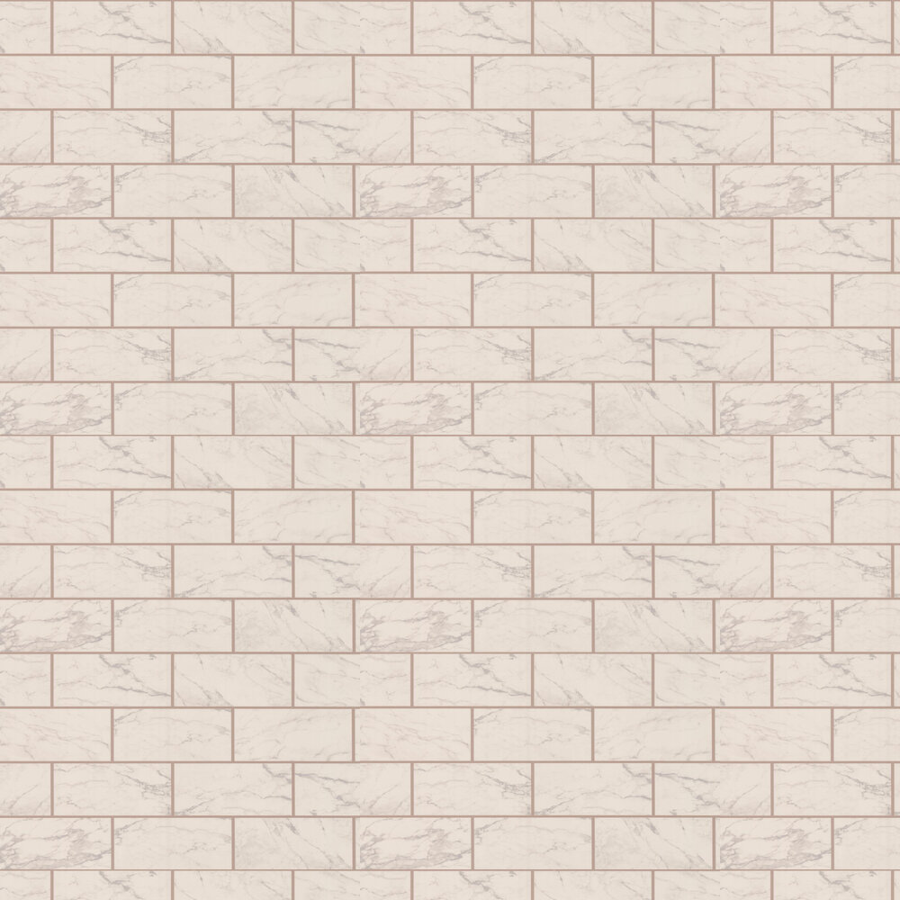 Marbled Bricks Wallpaper - Rose Gold - by Albany