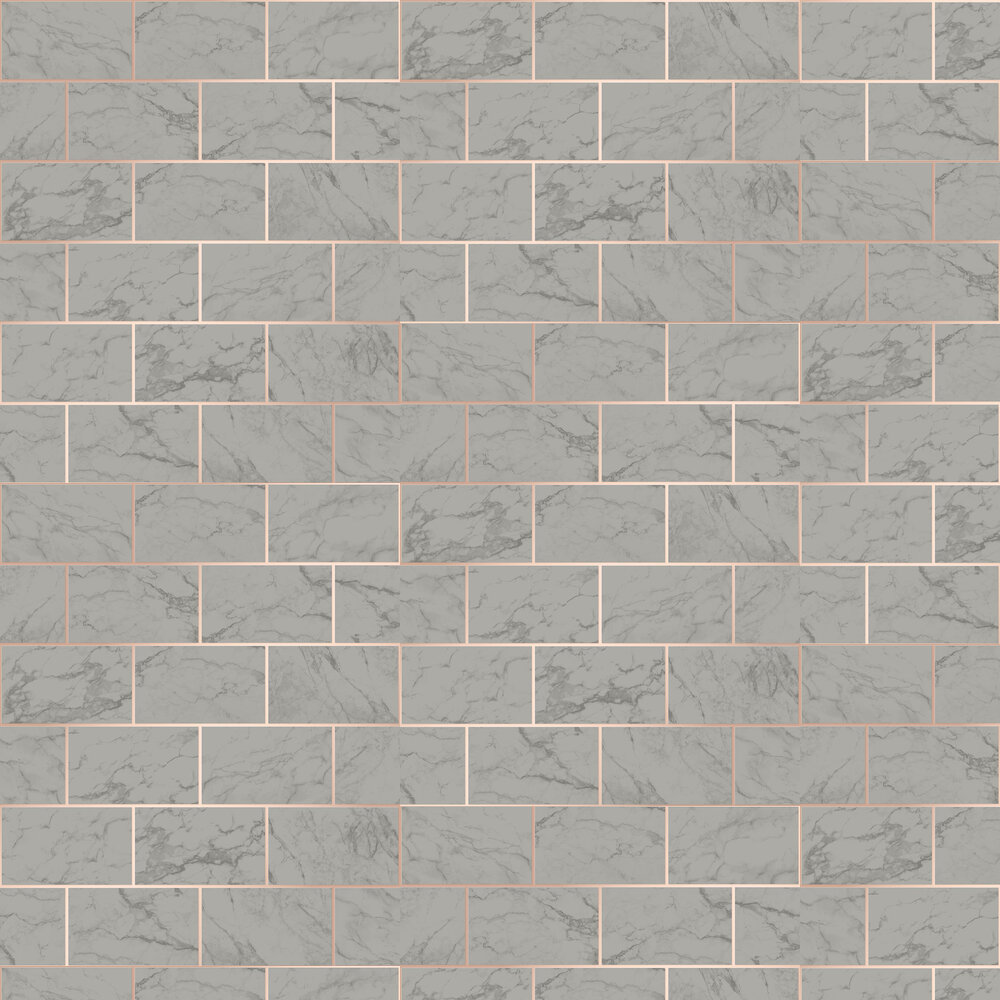 Marbled Bricks Wallpaper - Dark Grey - by Albany