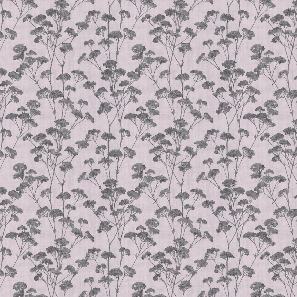 Cow Parsley Wallpaper - Grey - by Albany