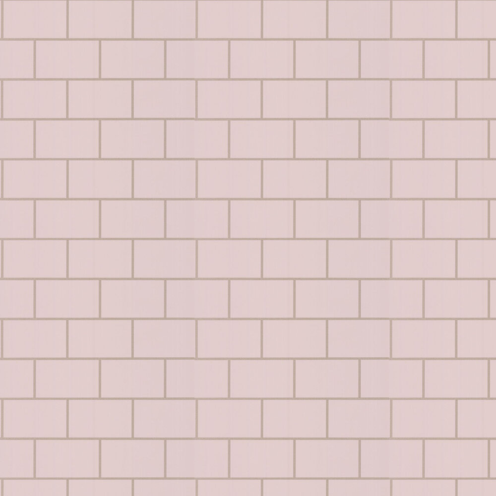 Metro Tile Wallpaper - Blush - by Albany