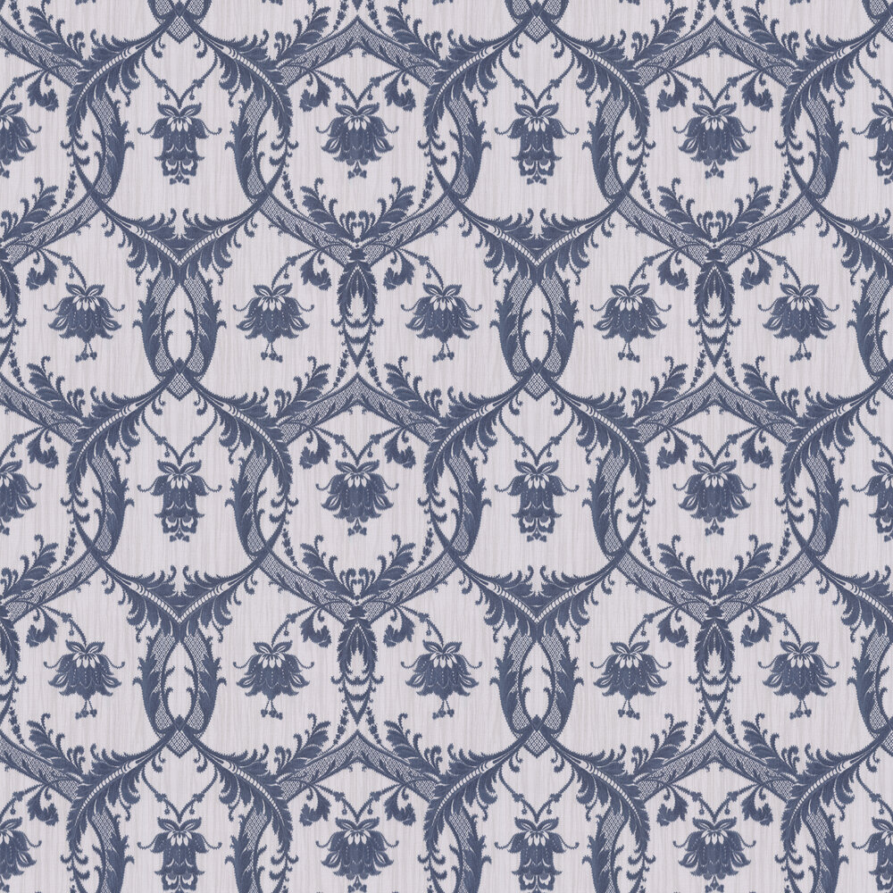 Elegant Damask Wallpaper - Blue - by Albany