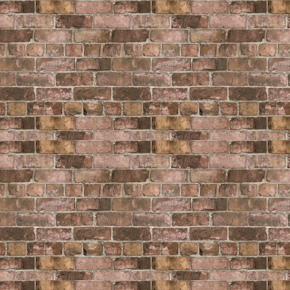 Durham Brick Wallpaper - Red - by Albany