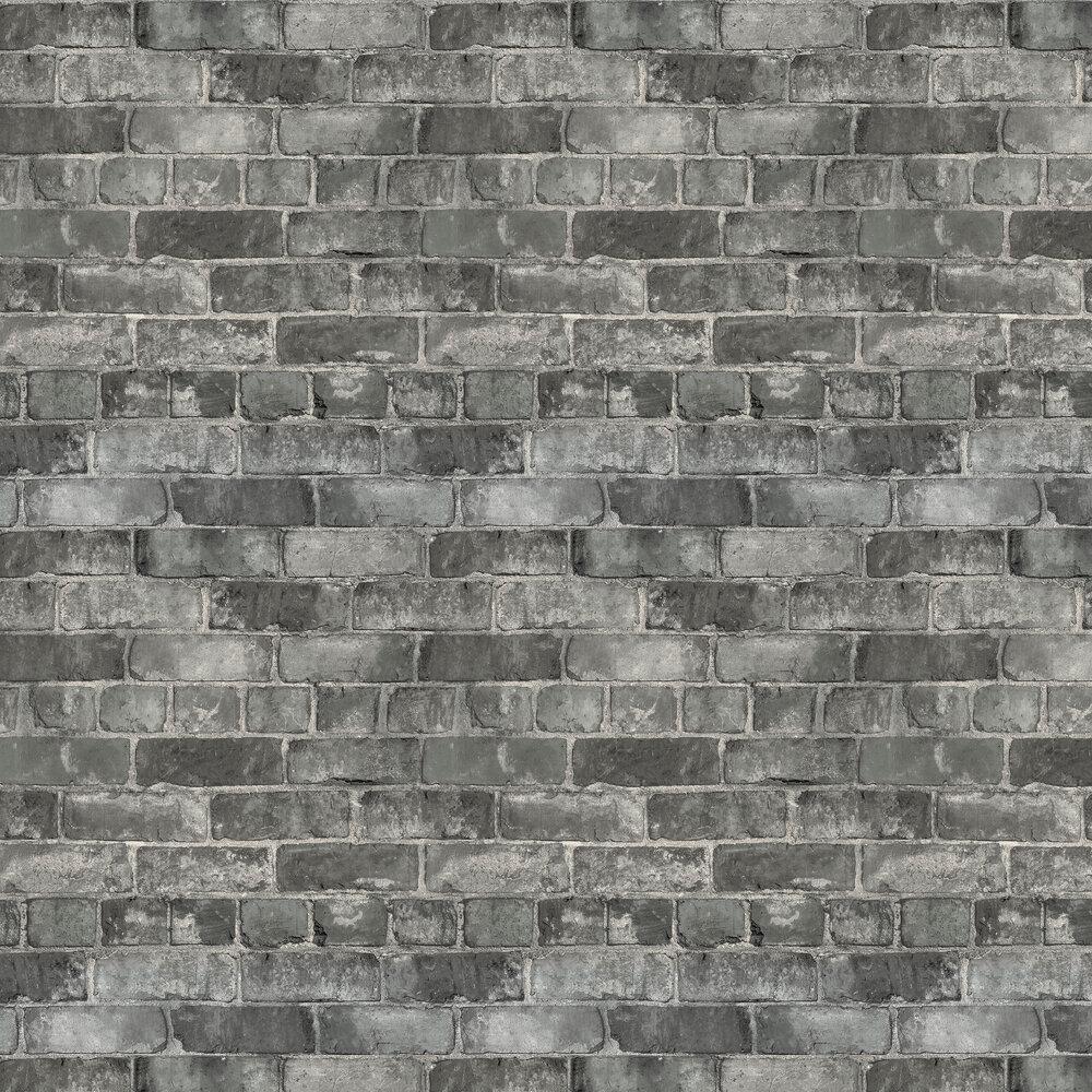 Durham Brick Wallpaper - Grey - by Albany