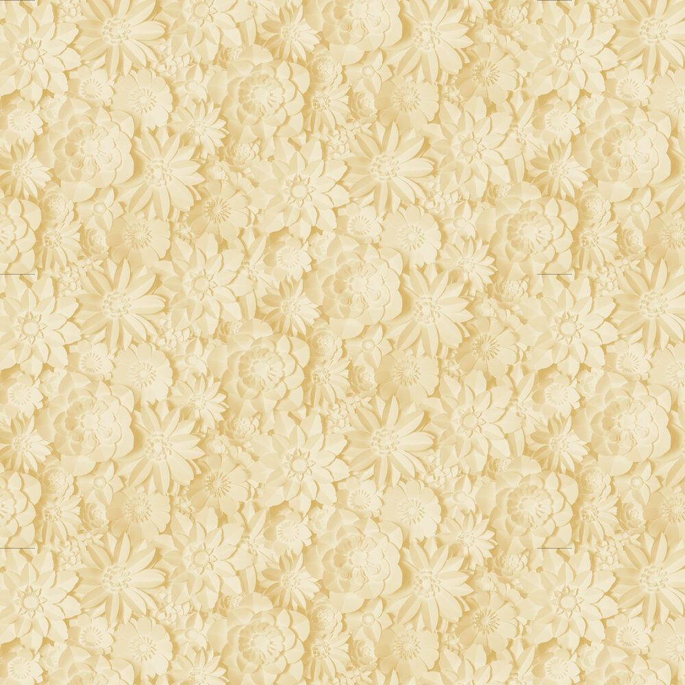 Dimensions Floral Wallpaper - Yellow - by Albany
