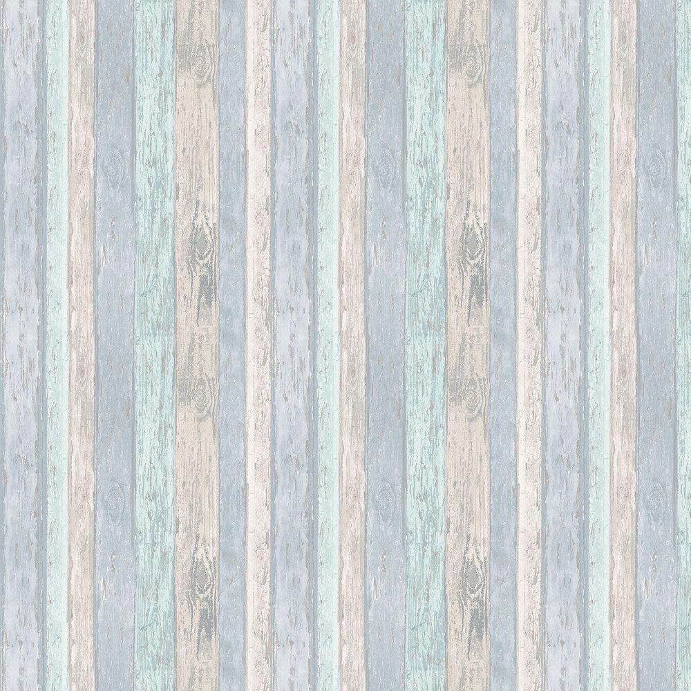 Beach Hut Wallpaper - Blue - by Albany