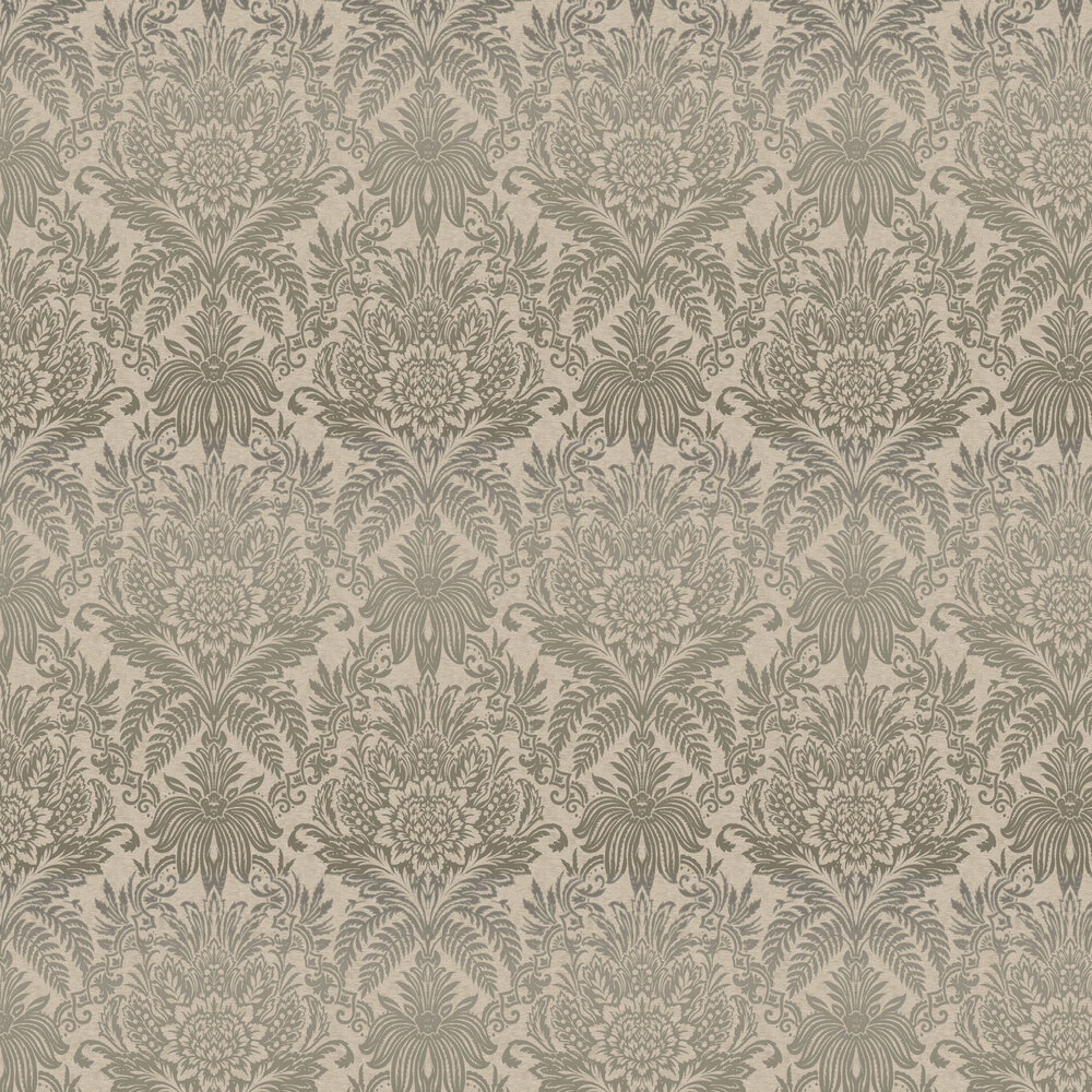 Signature Damask Wallpaper - Beige - by Albany