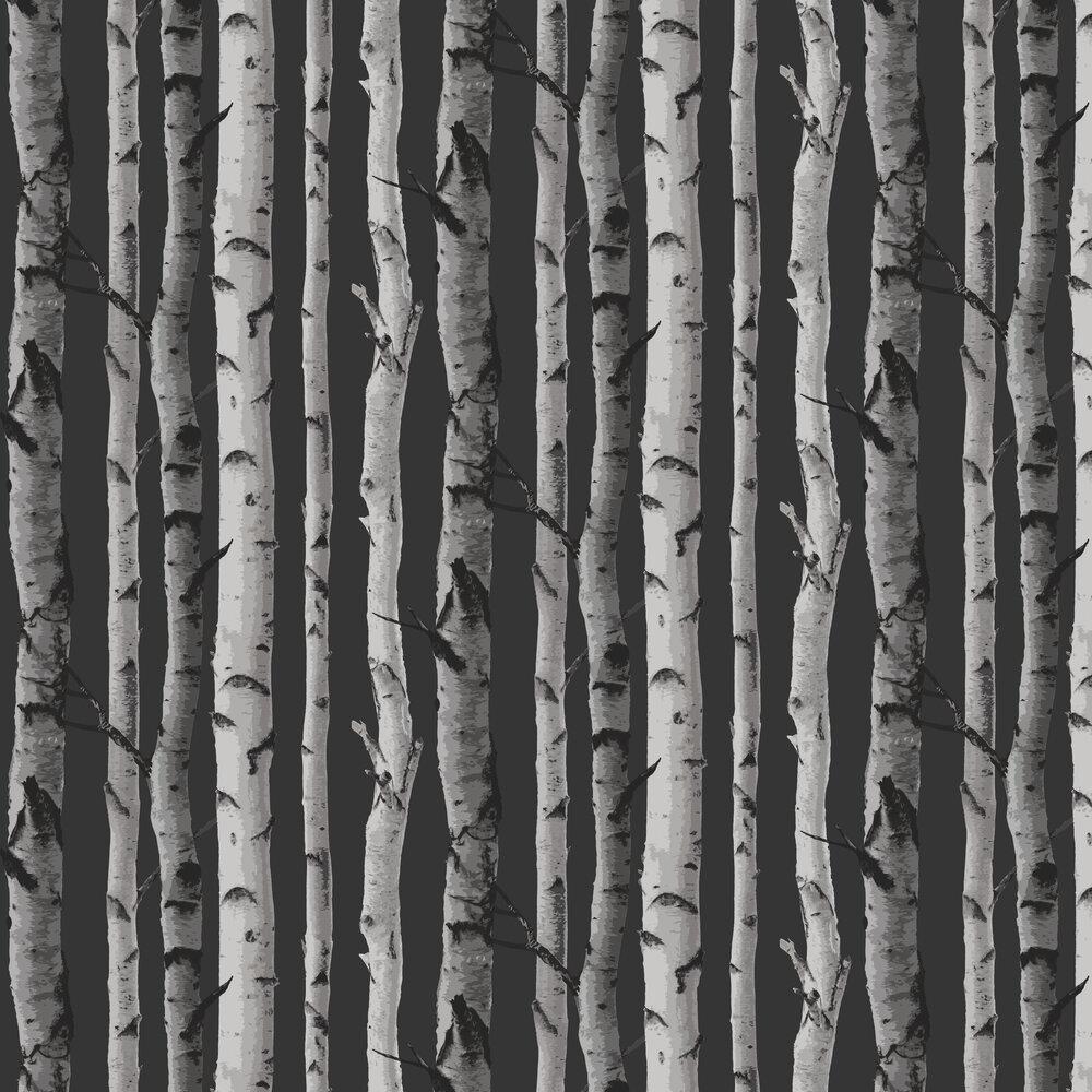 Nordik Wood Wallpaper - Charcoal - by Albany