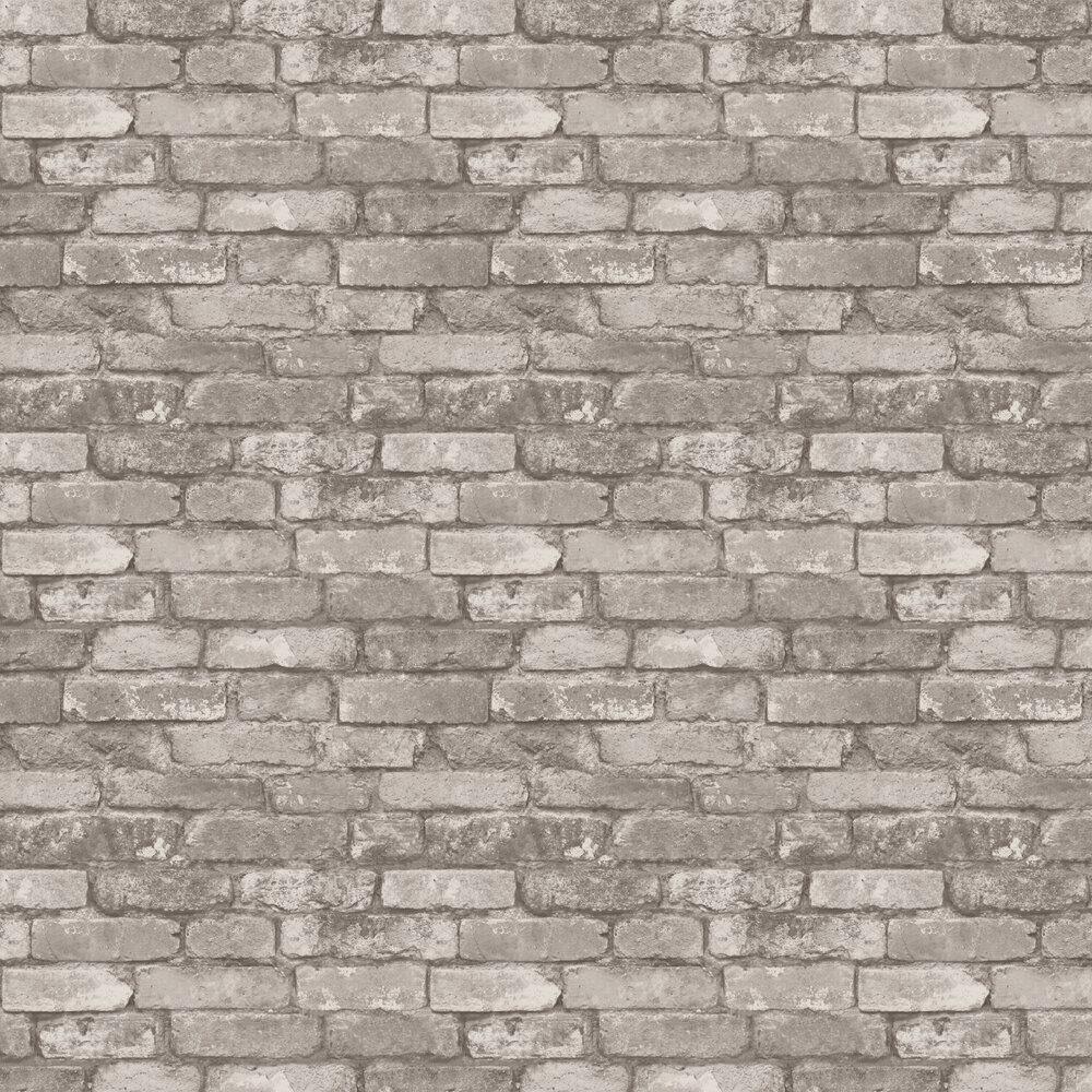 Rustic Brick Wallpaper - Brown - by Albany