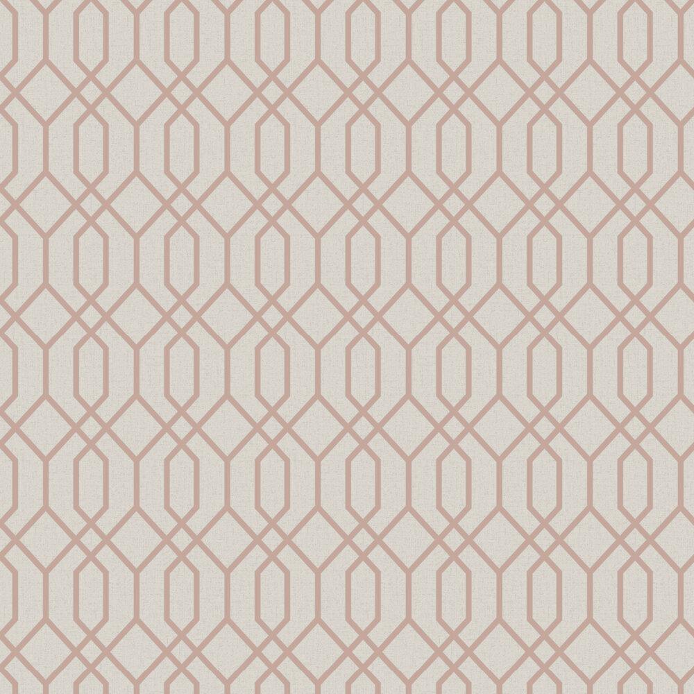 Quartz Trellis Wallpaper - Rose Gold - by Albany