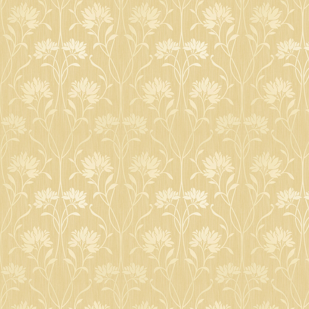 Florence Floral Wallpaper - Yellow - by Albany