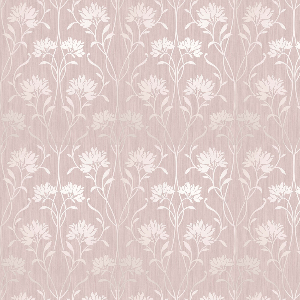 Florence Floral Wallpaper - Pink - by Albany