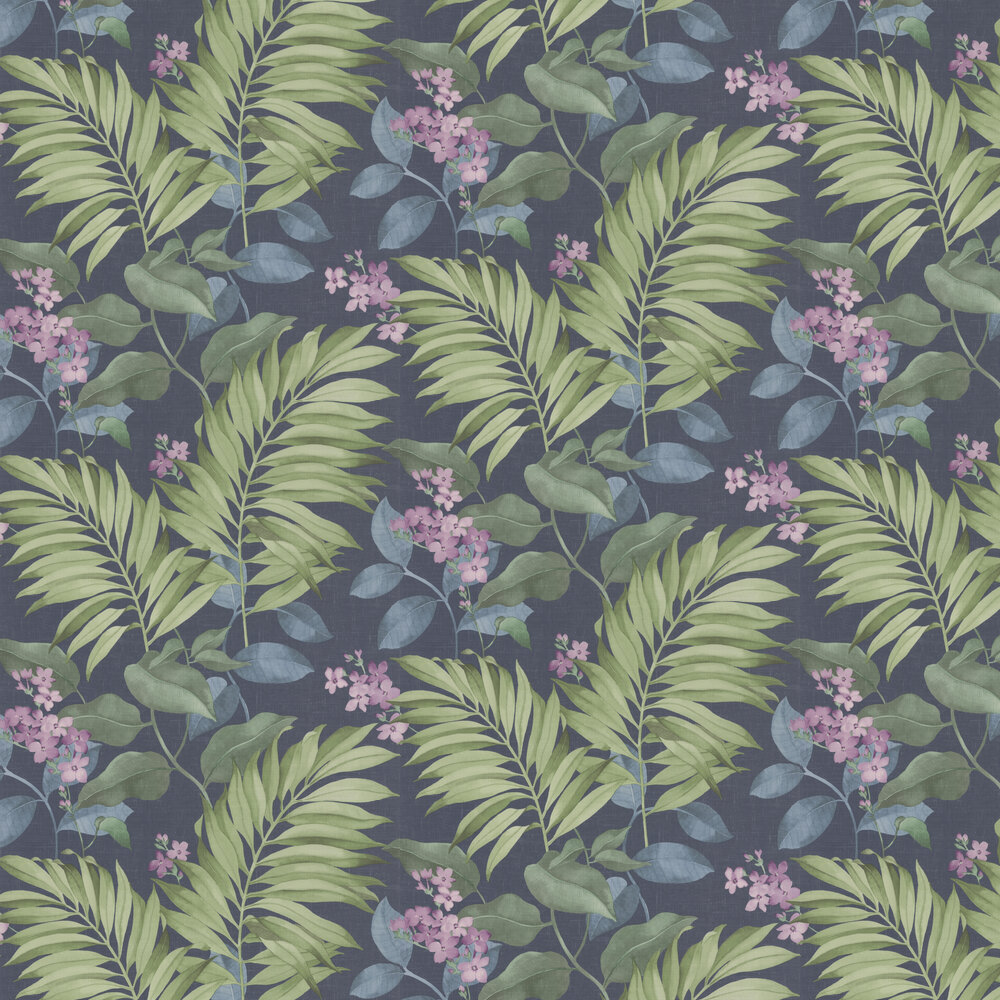 Eden Tropical Wallpaper - Navy - by Albany