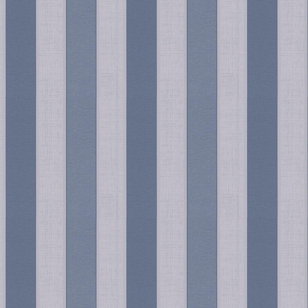 Larson Stripe Wallpaper - Navy - by Albany